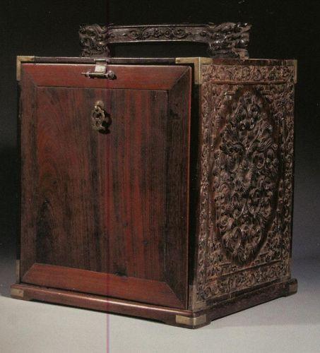 Medecine box china or annam in hardwood