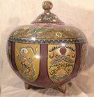 Large pot covered in cloisonné enamel Japan Meiji.