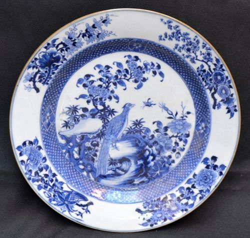 Chinese export blue and white porcelain plate for Japan