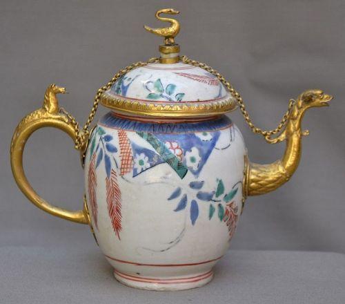 Rare Japane teapot export porcelain for Holland