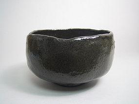 Kuro Raku-yaki Chawan by Kitaguchi Museki
