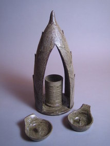 Vase, Incense/Candle Holder Set by Yamaguchi Takeshi