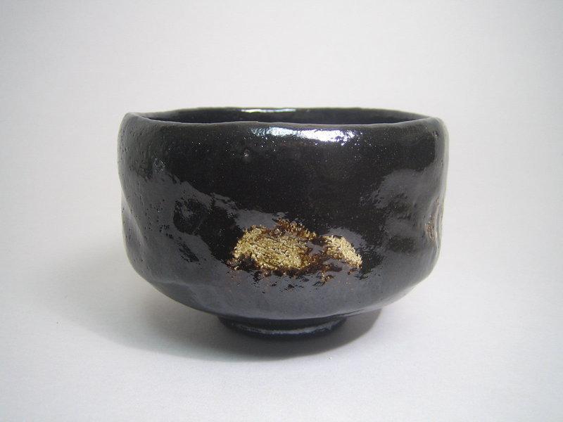Black Raku-yaki Chawan by Sasaki Shoraku III