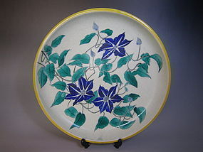 Japanese Decorative Plate by Miura Shurei
