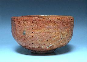Edo Period Aka Raku Chawan