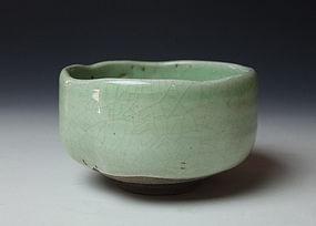 Rare Edo Period Sanda Ware Chawan