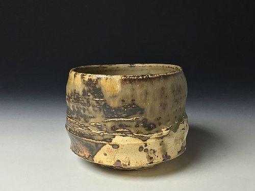 Kakewake Tsutsu Chawan by Koie Ryoji
