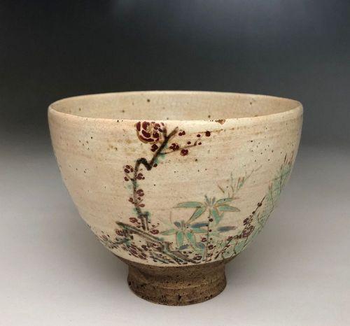 Edo Period Chawan in the style of Nonomura Ninsei