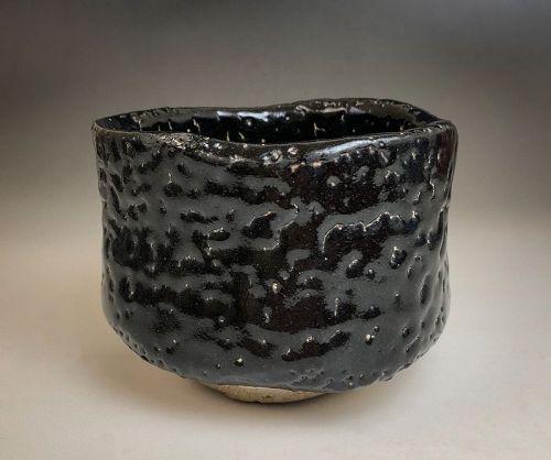Kuro Hiki-dashi Chawan by Kato Shuntei II
