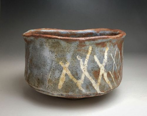 Nezumi Shino Chawan (tea bowl)