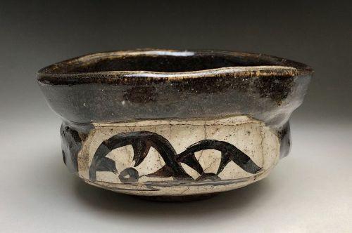 Edo Period Kuro-oribe Chawan