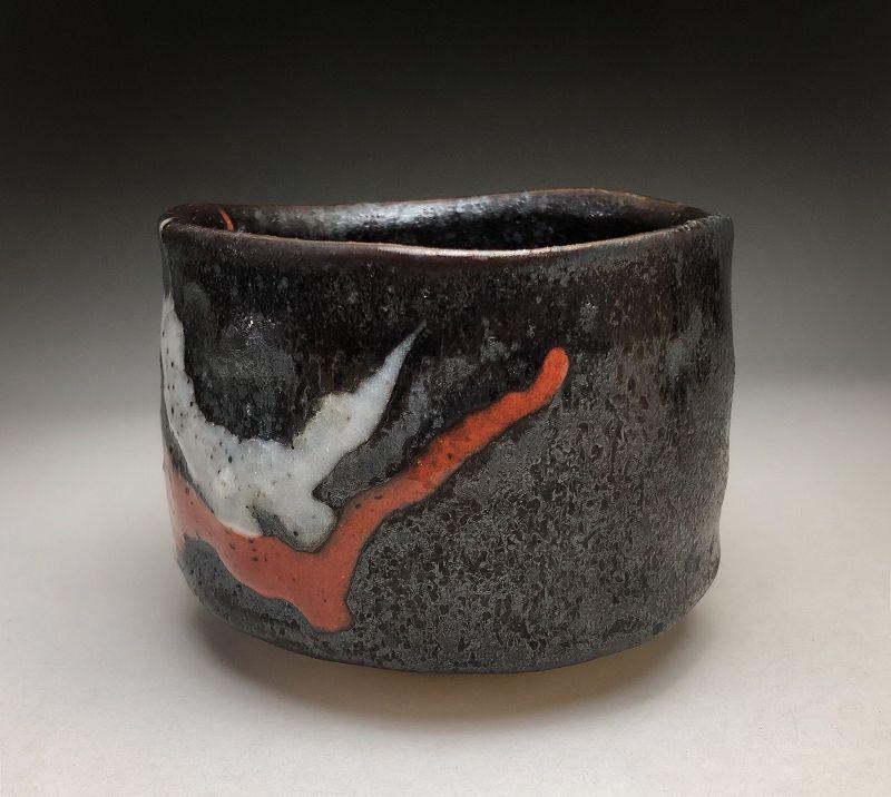 Black Nodate Chawan by Suzuki Tomio