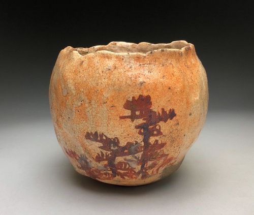 Edo Period Chawan by Hirasawa Kuro