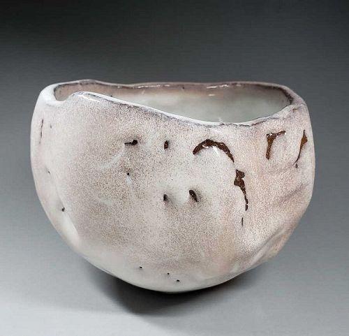 Hagi Kurinuki Bowl by Kaneta Masanao VIII