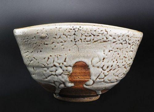Edo Period Karatsu Kutsu Chawan