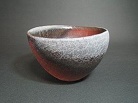 Bizen bowl by Ema Hiroshi