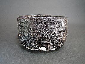 Black Seto Chawan by Suzuki Goro