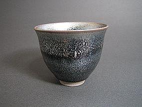 Nogime Tenmoku Yunomi by Unokawa Kazumasa