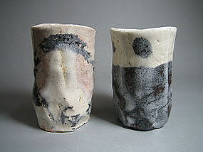 Shino Cup Set by Suzuki Goro