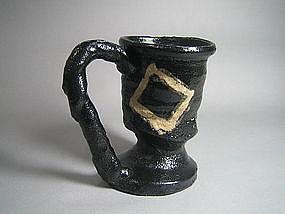 Kuro-oribe Coffee Wan by Suzuki Goro