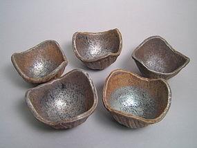 Set of 5 Mukozuke by Unokawa Kazumasa