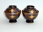 A pair of lacquer (urushi) bowls with lid