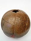 Bizen ware ball shape vase by TOKUMA Watanabe