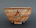 A fine Shino tea cup (chawan)