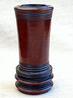 Small, cylindrical boxwood brushpot (huangyang bitong)