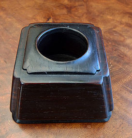 Brush washer (Hongmu shuiyin) for the scholar�s table