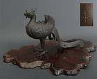 Majestic incense burner (koro)  stylized phoenix