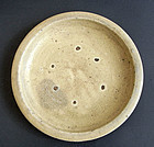 Large, antique Seto ware dish. Edo, 18th cent.