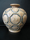Art Deco vase Geo Conde'. Signed: Condé, Mougin Nancy