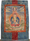 Thangka depicting Bodhisattva Vajrasattva (Dorjesemba)