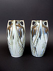 Pair of Art Deco vases, Denbac. France, 1930.
