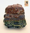 Sone Yoshiyuki: Shino/Oribe incense burner (koro)