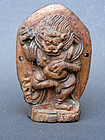 A small imageof the Lion head Dakini, carved wood. Tibet, 18�19th cent