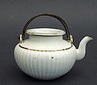 A white porcelain tea pot. Daoguang mark & period