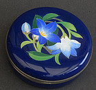 A nice box & cover in enamel/cloisonne'. Ando mark