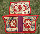 Fine & complete set of Tibetan saddle carpets with lions design