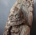 Wood sculpture of founder of Zen Buddhism, Bodhidharma (Daruma