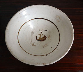 A real antique & large bowl in Zizhou ware.  Jin dynasty (1115�1234)