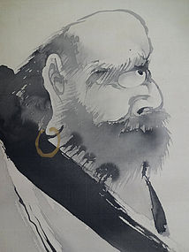 Zen painting Patriarch Bodhidharma/Daruma. Imai Tenroku