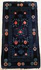 Baotou carpet, rug, dark blue ground and good-luck symbols