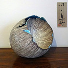 Large beautiful sculptural egg-shaped vessel, TANOUE Shinya