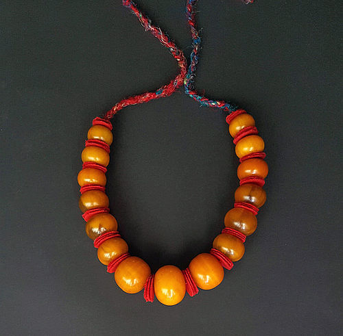 A beautiful Vintage Strand Copal Resin African Trade beads.