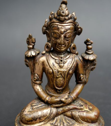 Rare bronze Image of BONPO Deity KUNZAG AKOR. 16th cent.
