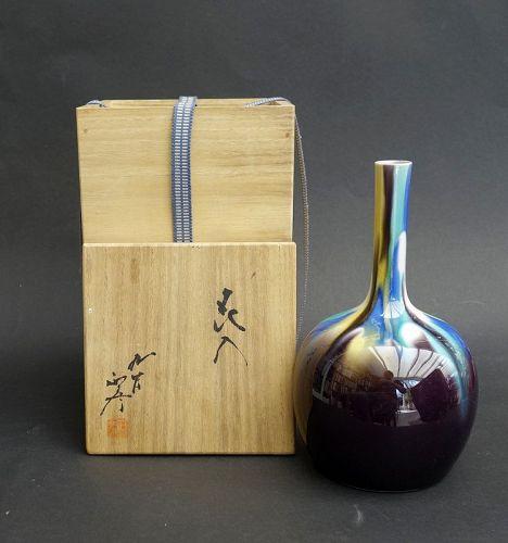 Kutani Master Tokuda Yasokichi III porcelain vase