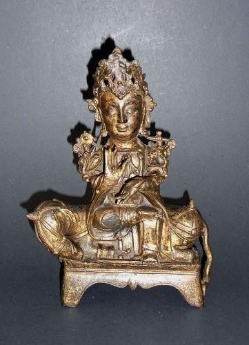 Ming, Wanli period bronze image of Bodhisattva Samantabhadra (Puxian)