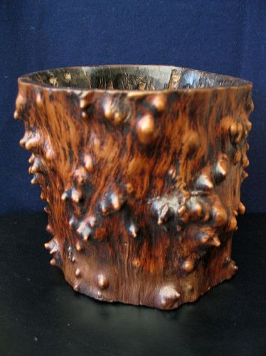 Chinese Antique Large  Brushpot Bitong for the scholar table